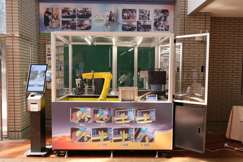 聖約翰科大機器手臂咖啡店正式啟用,研發專利展現學生學習成果!-8
